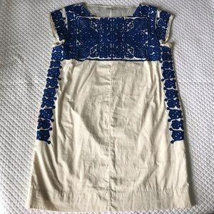 Madewell Embroidered Casita Shift Dress